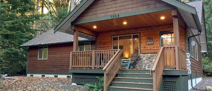 Mt. Baker Lodging's Glacier Springs Cabin #65