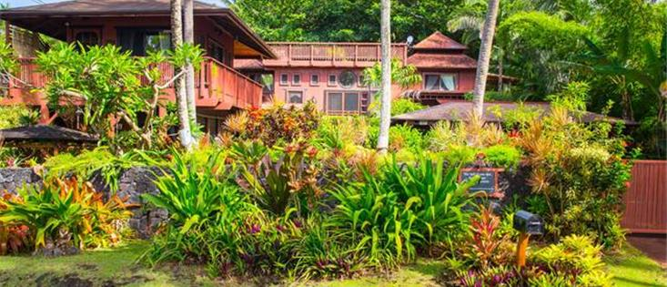 The Bali  House and Bali Cottage at Kehena Beach Hawaii